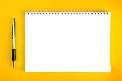 Kugelschreiber und leeres Briefpapier Lizenzfreies Stockfoto