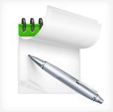 Kugelschreiber und Notizbuch lizenzfreie abbildung