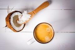 Kugelsicherer Kaffee Stockbild