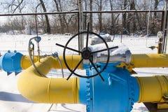 Kugelventil installiert auf die Erdgasleitung Stockfoto