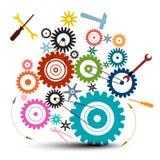 Kugge - kugghjulillustration - vektorkuggar - kugghjul vektor illustrationer