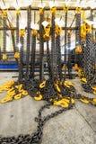 Kugge med chain remmar för ny last Royaltyfri Fotografi