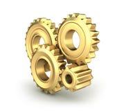 kuggen gears guld- Arkivbild