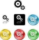 kuggen gears symbolssymbol vektor illustrationer