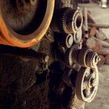 Kugghjul av den gamla maskinen Royaltyfria Foton