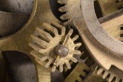 Kugghjul av en klocka royaltyfria bilder
