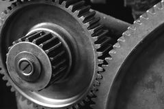 Kugghjul av en maskin Royaltyfria Foton