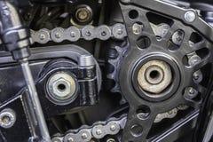 Kugghjul av motorcykeln Arkivbild