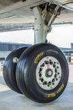 Kugghjul för flygplanchassilandning Royaltyfria Foton