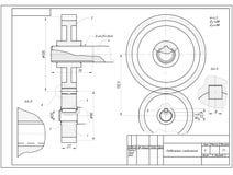 Kugghjul för grafisk teckning Arkivfoton