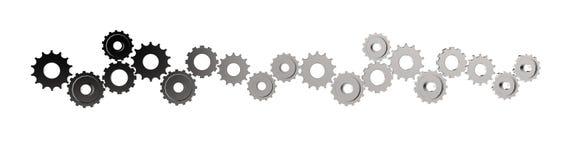 kugghjul för kugge 3d till framgång som begrepp stock illustrationer