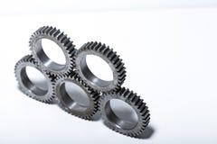 Kugghjul för staplad maskin Fotografering för Bildbyråer