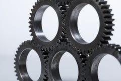 Kugghjul för staplad maskin Arkivfoton