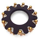 Kugghjul för svart för enhet för hjälp för teamworkpartnerskapaffär stock illustrationer