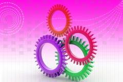 Kugghjul i 3d Arkivfoton