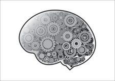 Kugghjul i hjärna Arkivbild