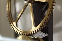 Kugghjul i klockan Royaltyfri Fotografi