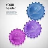 Kugghjul industry03 för presentation för designbeståndsdelmall Arkivbild