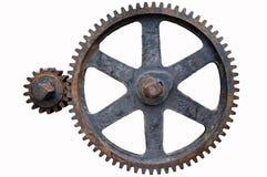 kugghjul iron gammalt Royaltyfri Foto