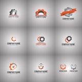 Kugghjul Logo Set Arkivbild