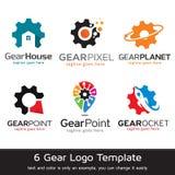 Kugghjul Logo Template Design Vector Arkivfoton