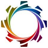 Kugghjul med virvel Royaltyfri Fotografi