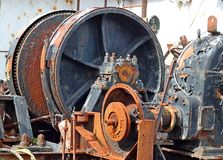 kugghjul metal rostigt Arkivbild