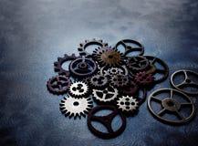 Kugghjul- och hjulgrunge Royaltyfri Bild