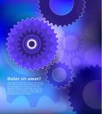 Kugghjul och kuggeabstrakt begreppdesign med kopieringsutrymme Vektor Illustrationer