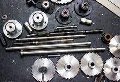 Kugghjul och lager för maskin Royaltyfri Foto
