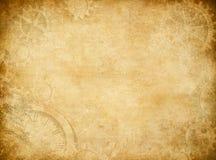 Kugghjul och sliten pappers- bakgrund för kuggar Royaltyfri Fotografi