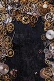 Kugghjul på tabellen Royaltyfri Foto