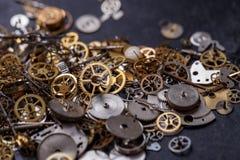 Kugghjul på tabellen Royaltyfria Bilder