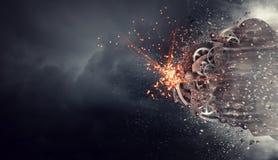 Kugghjul som arbetar mekanismen Blandat massmedia royaltyfri illustrationer