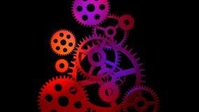 kugghjul som 3d kopplar in vektor illustrationer