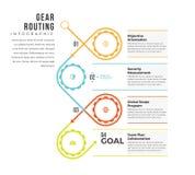 Kugghjul som sänder Infographic Arkivbild