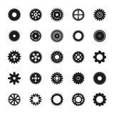 Kugghjul ställde in vektorn eps10 Royaltyfria Bilder