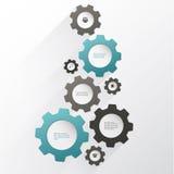 Kugghjulanslutning, teamwork Colorfully idérik mall med utrymme för ditt innehåll Royaltyfria Bilder