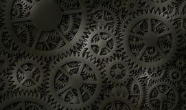 Kugghjulbakgrundsdesign Arkivbild