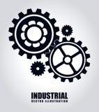 Kugghjuldesign över grå bakgrundsvektorillustration stock illustrationer