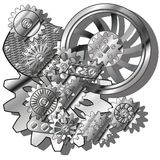 Kugghjulen Arkivfoto
