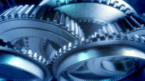Kugghjulen roterar arkivfilmer