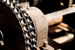 Kugghjulhjul av tungt maskineri royaltyfri bild