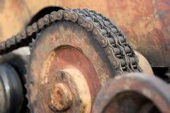 Kugghjulhjul av tungt maskineri royaltyfri fotografi