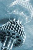 Kugghjulhjul och kuggar i titanium Fotografering för Bildbyråer