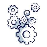 Kugghjulhjul som symboliserar idé eller lösningen royaltyfri illustrationer