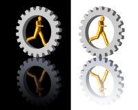 kugghjullogoman vektor illustrationer