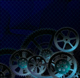 Kugghjulmörker - blått Royaltyfri Bild