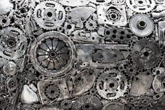 Kugghjulmetallbakgrund Arkivbilder