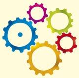 kugghjulobjektvektor vektor illustrationer